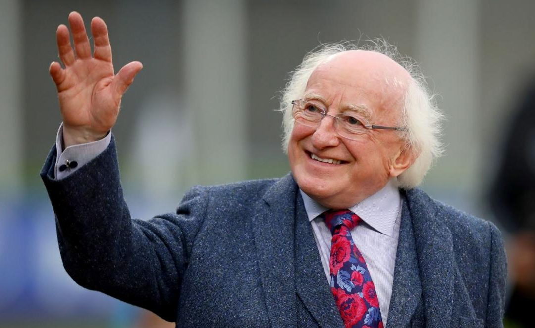 PRESIDENT MICHAEL D HIGGINS SENDS A VIDEO MESSAGE TO SECOND LEVEL STUDENTS